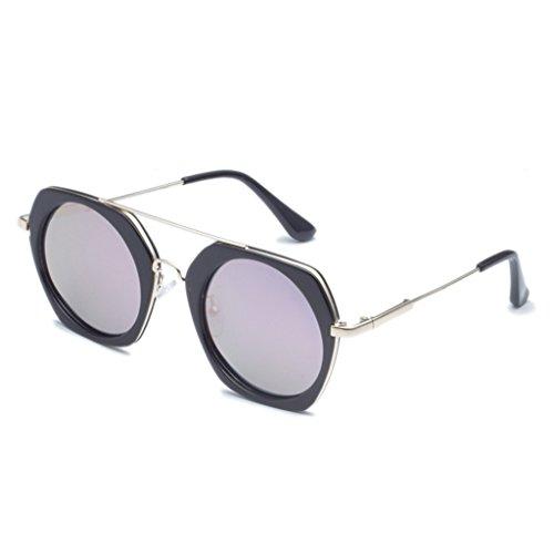 Lunettes couleur amp;lunettes 2 Couleur Des Facultatif Soleil Femmes Multi x52 Rondes Lym De Protection amp; 6 qO5wcAvZxI