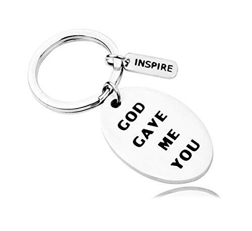 Wwjd Keychain - REEBOOOR Christian Bracelet Keychain Faith Bracelet WWJD/God gave me You/Let Your Faith be Bigger Than Your Fear Gift for Her (God gave me You-KC)