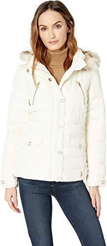 U.S. Polo Assn. Women's Classic Puffer Jacket, Marshmallow, - Coats Fur Faux For Juniors Hood