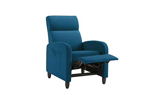Living Room Slim Manual Recliner Chair (Teal)