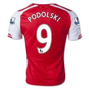 finest selection ea75d 26f64 Amazon.com: Podolski Number 9 Arsenal Home 2014-2015 Soccer ...