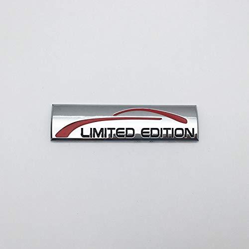 (1 PCS Glossy Silver Metal 3D Limited Edition Logo Car Emblem Auto Badge Sticker Decal)