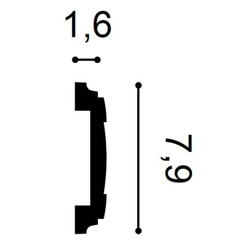 Friesleiste Stuck Profil Orac Decor PX102 AXXENT Wandleiste Zierleiste Profilleiste Wand Rahmen Dekor Element 2 Meter
