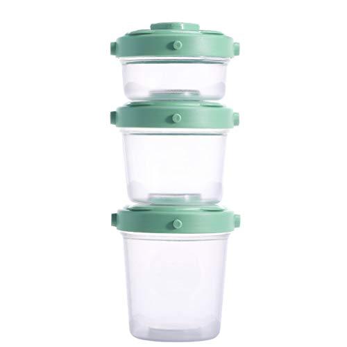 (GAOYUTINGGM Baby Crisper Box,Baby Food Box,Baby Food Supplement Box,Baby Tableware,Baby Bowl,Children's Tableware,Baby Snack Box,Milk Powder Box,Green)