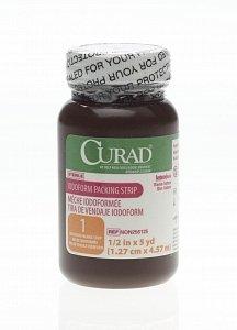 CURAD Sterile Iodoform Packing Strips, GAUZE,PACKING STRIP,IODOFORM,1/2