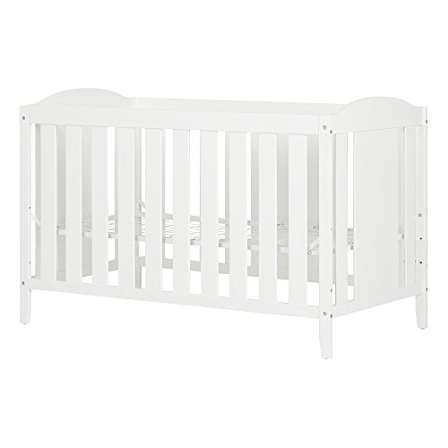 Angel Crib and Toddler Bed – Convertible Nursery Furniture for your Baby – Pure White – by South Shore