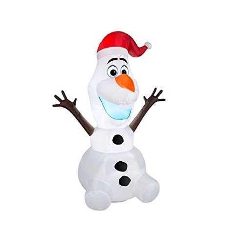 - Northlight Seasonal 31752251 Inflatable Disney Frozen LED Lighted Olaf Christmas Yard Art Decoration