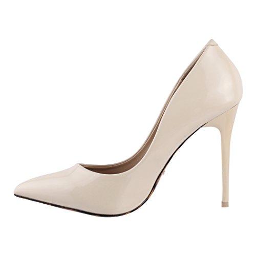 Beige Femmes Escarpins Hauts Chaussures Dentelle Paris Elara Vernies Talons q0Sw5