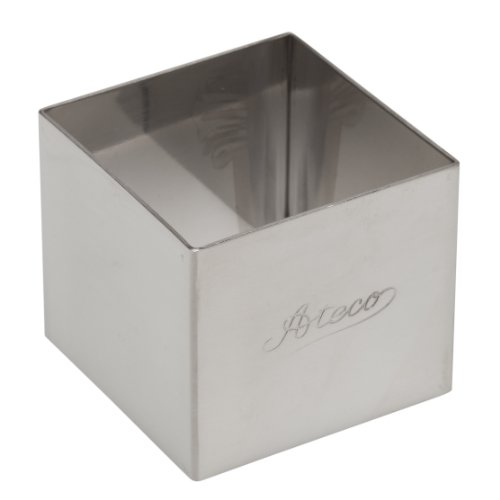 Ateco 4905 Square Stainless Steel Form, 2 by 1.75-Inches High