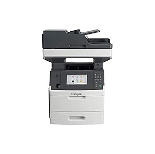 Lexmark MX710DE Laser Multifunction Printer - Monochrome - Plain Paper Print - Desktop - Copier/Fax/Printer/Scanner - 63 ppm Mono Print - 1200 x 1200 dpi Print - Automatic (Certified Refurbished) ()