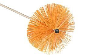 Medium Bristle Brush Orange (8'/200mm Medium Bristle Brush Universal) Rodstation