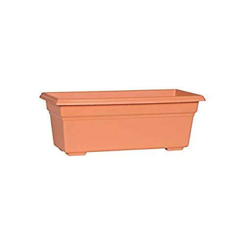 Novelty 16195, Terracotta, Countryside Flower Box Planter, 18-Inch