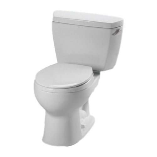 Toto CST743ERBNo.01 Eco Drake Toilet-1.28-GPF R with Right Hand Trip Lever and Boltdown Tank Lid In Cotton by TOTO