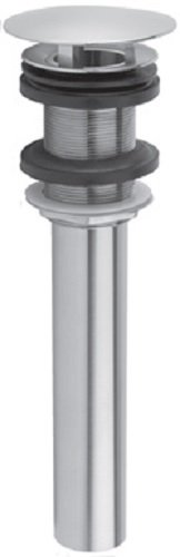 Jaclo 831-DP-PCH C.O. Style Stationary Round Top Drain without Overflow Holes, Polished Chrome ()