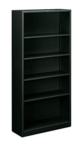 (HON Metal Bookcase  - Bookcase with  Two Shelves,  34-1/2w x 12-5/8d x 72h, Charcoal  (HS72ABC) (Renewed))