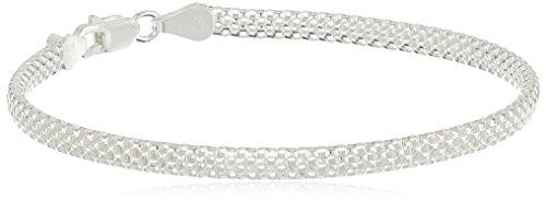 Sterling Silver Mesh Chain Bracelet, - New Collection Italy