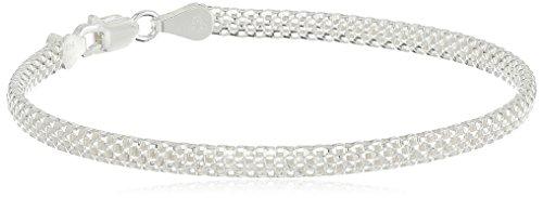 Sterling Silver Mesh Chain Bra