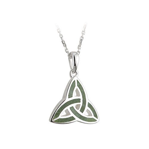 """Trinity Knot Meaning (Trinity Knot Pendant Sterling Silver & Connemara Marble 18"""" Exclusive Chain)"""
