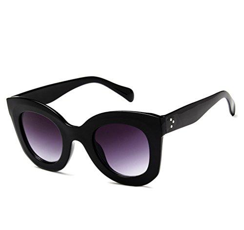 Marco Mujer 2 Sol De Oversized Gafas De Moda Mariposas Salvaje Retro Gris Polarizados Sol Negro Ketamyy Gafas 40xOqdWaaw