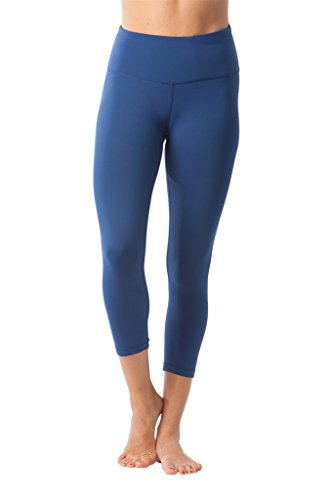 8404887a46858 Galleon - 90 Degree By Reflex – High Waist Tummy Control Shapewear – Power  Flex Capri - Winter Blue - XS