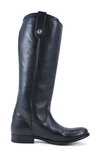 FRYE Damen Melissa Button Boot Schwarzes weiches Vintage Leder