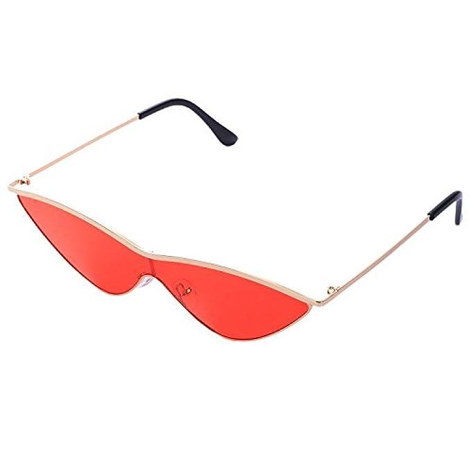 Cat Sunglass Sole One Da Eye Ladies Occhiali Rosso Oro Donna Vintage Piece Jvsism