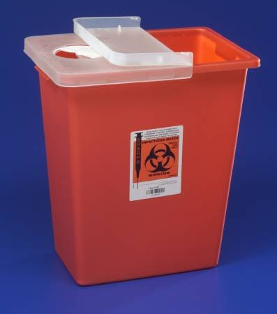 Kendall Sharps Container 8 Gallon Red - Model 8980 by COVIDIEN
