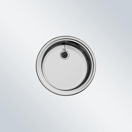 Blanco Rondosol Edelstahl Bürstfinish Küchenspüle rund Spülbecken Einbauspüle