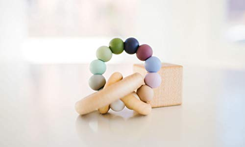 Pebble Saturn Ring Baby Teether Rattle ()
