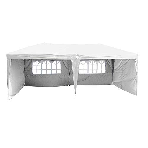 Polar Aurora 10' X 20' Easy Pop up Canopy Party Tent - White w/ 4 Removable Sidewalls
