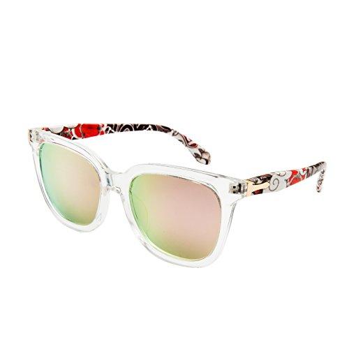 AONOR Wayfarer Polarized Sunglasses for Women (Pure Frame, Polarized Mirrored Rose - Style Sunglasses Latest