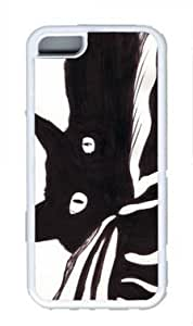 Chat Noir Custom Rubber(TPU) white Case for Masterpiece Limited Design iphone 5C by Cases & Mousepads wangjiang maoyi by lolosakes
