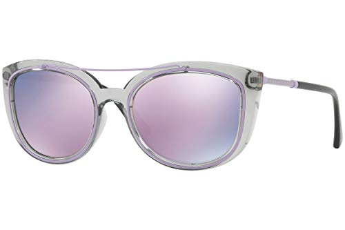asses Gray Crystal w/Pink Mirror Lens 52545R VE 4336 ()
