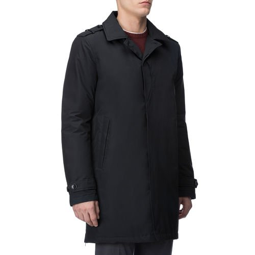 Uomo Dkn Mac Trench Travel Trapuntato Wocps2465 Woolrich Blu Interno Navy awXqvnTC