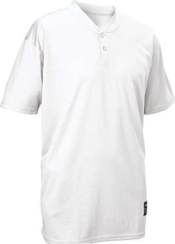 Easton Youth Skinz 2 Button Placket Jersey, White, (Placket Jersey)