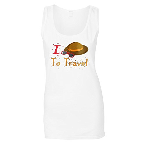 Neue I Love Travel Hutbrille Damen Tank top l714ft
