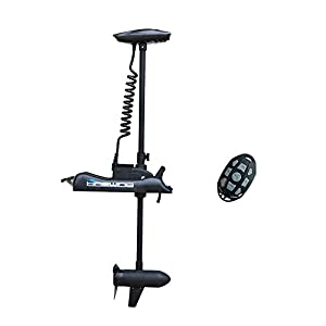 """Aquos Black Haswing 24V 80LBS 60"""" Shaft Bow Mount Electric Trolling Motor Portable, Variable Speed Bass Fishing Boats Freshwater Saltwater Use, Energy Saving, Precise Control, Quiet Operation"""