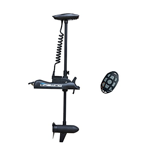 "Aquos Black Haswing 12V 55LBS 48"" Shaft Bow Mount Electric Trolling Motor Portable"