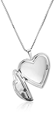 """Sterling Silver """"I Love You To The Moon & Back"""" with Chain Heart Locket Necklace"""