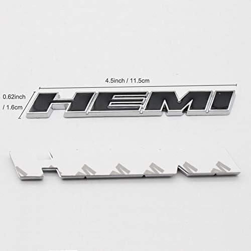 2pcs Black B185 HEMI Emblem Decal Badge Sticker Dodge Charger Ram 1500 Challenger Jeep Grand Cherokee Benzy AU001308