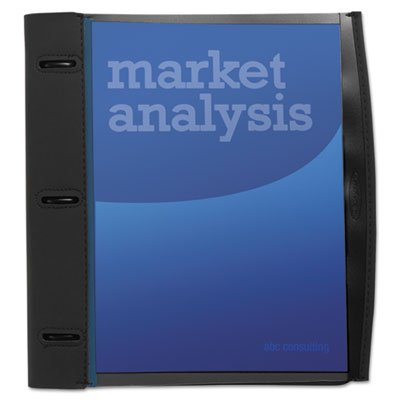 Jones Smartview 3 Ring - Smart-View Three-Ring Report Cover, Letter, Holds 40 Pages, Black/Blue, Sold as 1 Each
