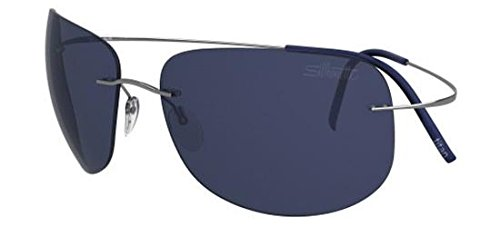 Silhouette TMA ULTRA THIN 8676 RUTHENIUM/BLUE one size fits all men Sunglasses