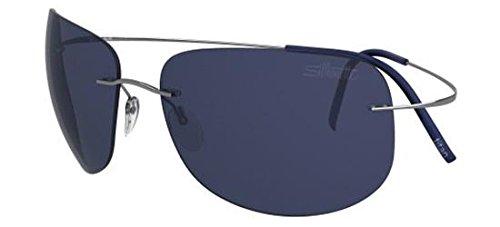Silhouette Gafas de Sol TMA ULTRA THIN 8676 RUTHENIUM/BLUE ...
