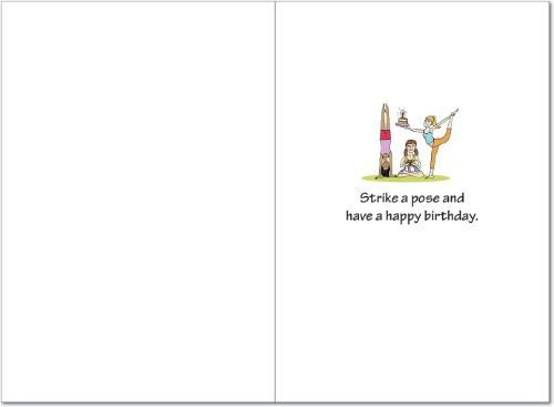 Amazon 4397 Birthday Yoga Funny Card With Envelope Nobleworks Cards Office Products