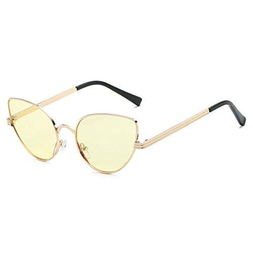 Mujer Metal Retro 4 4 Gafas Marco Conducción Gato Sol Gafas de UV400 Kimruida Ojo Designer Marca YXTw1W8qU