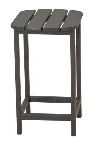 POLYWOOD SBT26GY South Beach Counter Side Table, 26-Inch, Slate Grey (Patio Top Side Tables Slate)