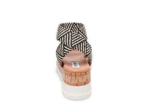Women's Madden 6 Steve Us Black Bandi Sandal 5 tan 45qggYdx