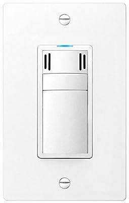 DewStop FS-300-W1 Adjustable Bathroom Fan Control Switch, White