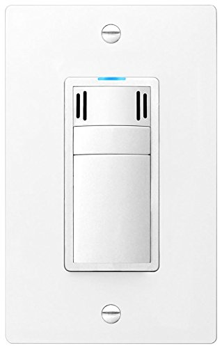 DewStop FS-300-W1 Adjustable Bathroom Fan Control Switch, White