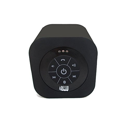 Adesso Bluetooth 3.0 Waterproof Speaker - Retail Packaging - Black